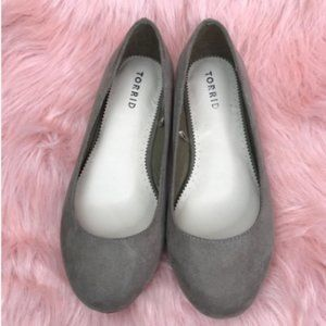 Torrid Taupe Almond Toe Ballet Flats Size 6.5W